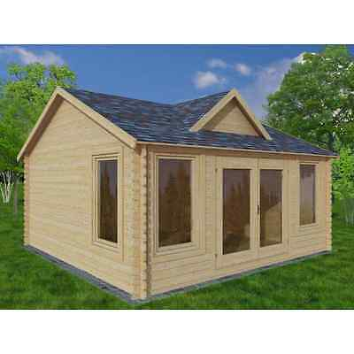 log cabin 4x3 28mm, CLOCKHOUSE, summer house, shed, garden room