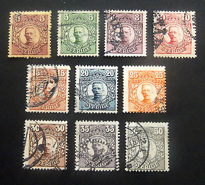 Sweden-1910-Gustav Collection to 50 Ore-Used