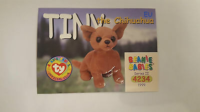 TY Beanie Baby collector card Tiny the Chihuahua Series 2 EU