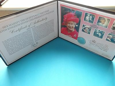 RARE - 2016 THE QUEEN'S 90th BIRTHDAY SILVER  1oz BRITANNIA COIN COVER