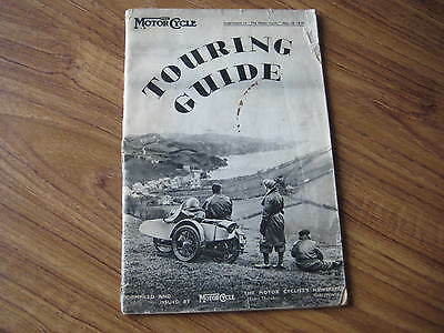 Motorcycle News 1939 Touring Guide