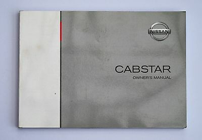 Nissan Cabstar Owners Manual Hanbook