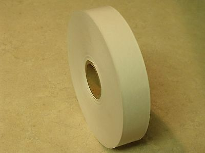 """8 ROLLS - 1"""" x 500 Feet Each - Water Activated WHITE KRAFT PAPER TAPE"""