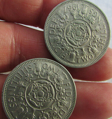 2 Two Shillings. 1966 & 1967. Uncirculated.
