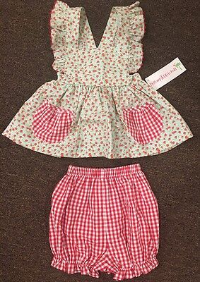 Girl's Shrimp & Grits Kids Pinafore Set Size 3T NWT