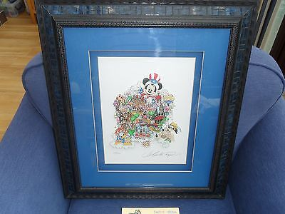 Charles Fazzino Disney It's A Small World 3D Serigraphic Art L.e 194/200