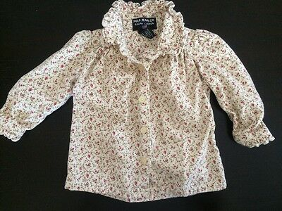 Polo Ralph Lauren Baby Girl Floral Light Jacket 6-12 Month