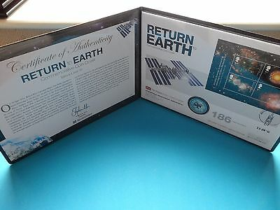 Rare -Tim Peake -  Return To Earth Commemorative Coin Cover  - Limited To 95