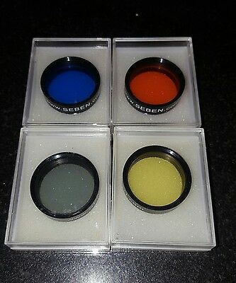"Set of 4 Seben Telescope Colour Filters 31.7mm (1.25"")"