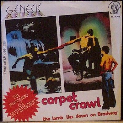 7 45 Genesis ‎Carpet Crawl The Lamb Lies Down On Broadway Italy 1975  Charisma
