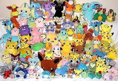 85 MASSIVE LOT Nintendo Pokemon Soft Plush Toy Doll Figure Card Game Pikachu