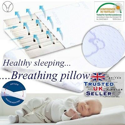 Baby Wedge Pillow For Cot Bed Prevents Reflux Colic  & fllat head  Newborn Foam