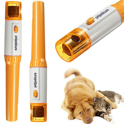 Pet Nail Pedicure Grinder Trimmer File Kit For Dogs Cats Rabbits No Clipping UK
