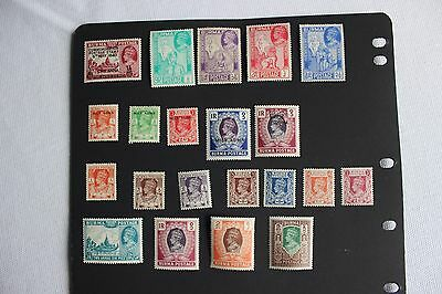 George Vi Burma Stamps Mint Hinged And Mint Never Hinged Mix Cv £42.15