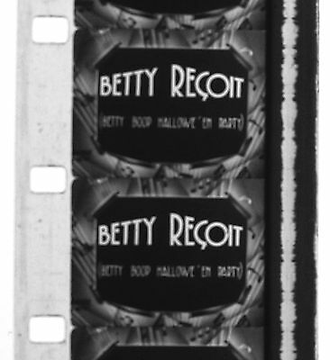 Film 16mm Dessin animé BETTY RECOIT Betty Boop's Halloween Party 1933 Fleischer