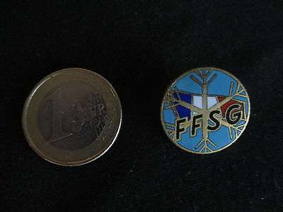 Insigne Broche  Metal Emaille Ffsg Federation Francaise Des Sports De Glace