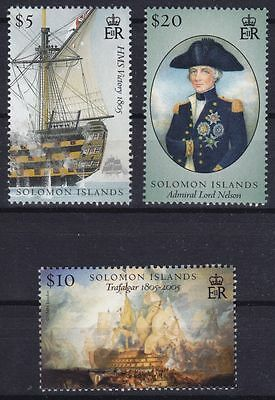 Solomon Islands Mi-Nr. 1279 - 81 **, Admiral Nelson, Battle of Trafalgar (12 ME)