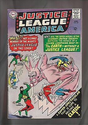 Justice League of America #37 F (6.0) JSA  X-over + Mr. Terrific, Silver Age.