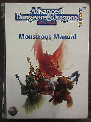 Advanced dungeons & dragons monstrous manual 2nd Edition - Hardback