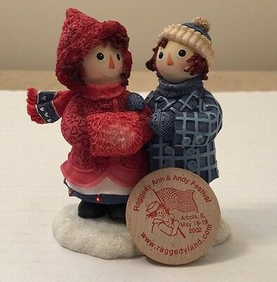 Enesco, Raggedy Ann & Andy, To Have a Friend Figure And Festival Token