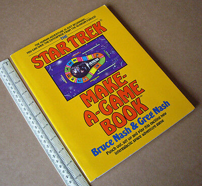 1979 Star Trek Make-A-Game Book Punch-out & Play. Kirk Spock McCoy Scotty