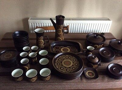Immaculate Vintage 52 Piece Denby Arabesque Dinner Service Incl Rare Items