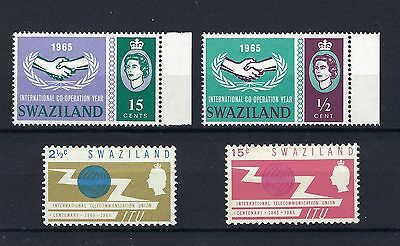 SWAZILAND  1965 SG 113 to 116 MNH & LIGHTLY MOUNTED MINT (see description).