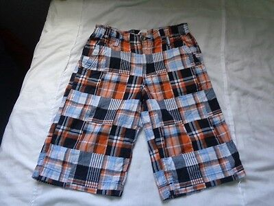 Crazy 8 Boys Shorts Size 10 Madras Adjustable Waist Great Cond!!