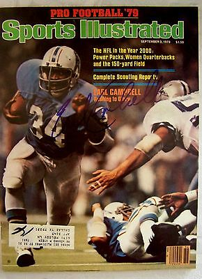 Earl Campbell Authentic Autographed Signed Sports Illustrated SI Houston Oliers