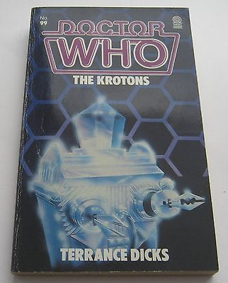 Doctor Who The Krotons - Terrance Dicks 1985 Target Paperback Book