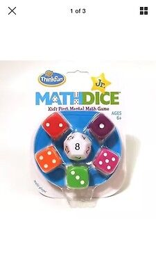 Maths Dice Jr Thinkfun Maths Game for KS1 Number Addition Subtraction Age 6