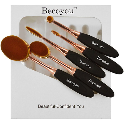Makeup Brushes, Becoyou Soft Professional Oval Toothbrush Makeup Cosmetic Brush