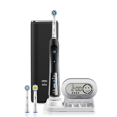 Oral B Precision Black 7000 Rechargeable Electric Toothbrush with Bluetooth