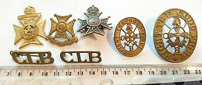 Collection of Vintage Church Lad Brigade Cap Badges, Shoulder titles & Others