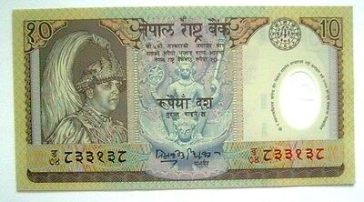 Banknotes Nepal 10 Rupees 2002 Nd Issue Unc Cond