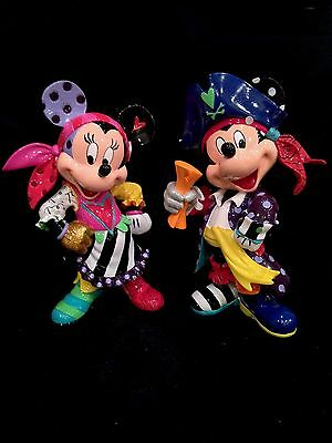 Disney by Britto 2-Piece Pop Art Pirates Set with Mickey and Minnie Mouse! NIB
