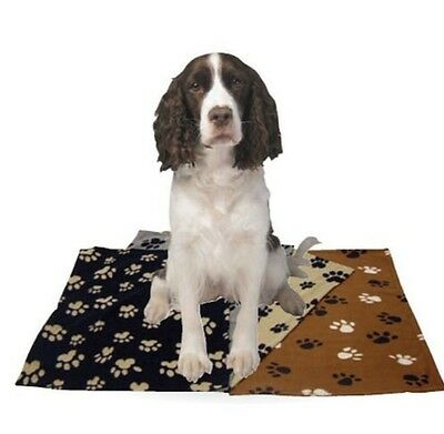 TWO x Soft Fleece Pet Blankets Dog Puppy Cat Ideal Gift for Your Dogs Cats