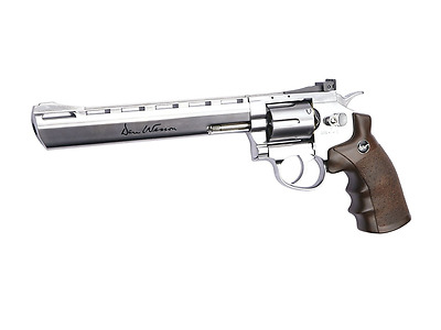 ASG 50034 Dan Wesson CO2 Powered Airsoft Revolver, Silver, 4""