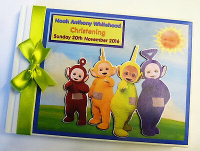 Personalised Teletubbies 1St/first Birthday Guest Book - Any Design