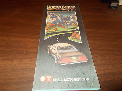 1983 Shell United States /National Parks Vintage Road Map