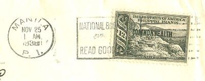 Philippines 12c Commonwealth Solo used on RCA Advertising cover to USA 1938