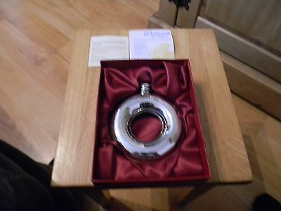 wentworth pewter hole in one hip flask boxed and un used