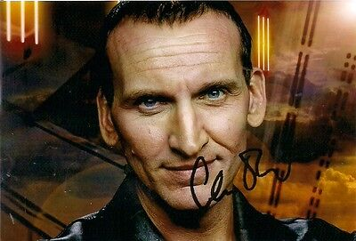 CHRISTOPHER ECCLESTON 9th DR WHO SIGNED AUTOGRAPH 6 x 4 inches PRE PRINTED PHOTO