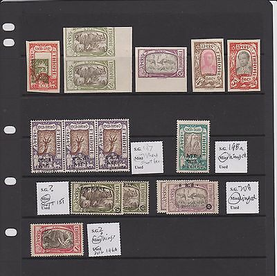 Ethiopia 1919 definitives proofs and o/prints MH - see description