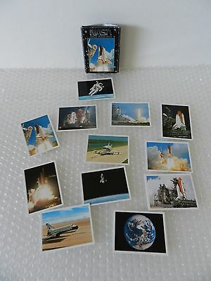 nASA SPACE COLLECTION SHUTTLE TRADING CARDS 12 PRINTS ATLANTIS DISCOVERY IMPACT