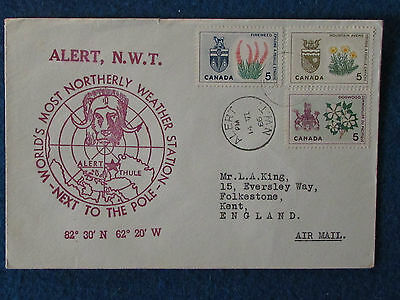 Canadian Commemorative Cover-Alert NWT - Weather Station-14/6/66-Double Stamped