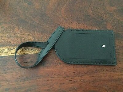 Montblanc Leather Luggage  / Baggage Tag Label