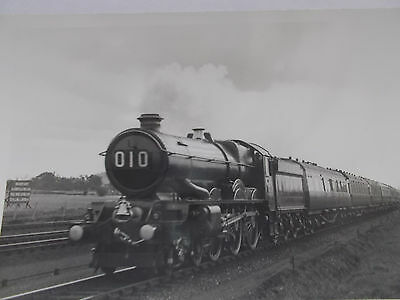 Rail Photo- Gwr 6000 King Class 4-6-0 - On Gwr Centenary Special1935 To Bristol