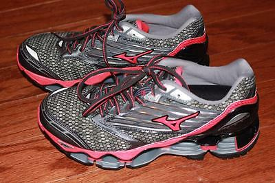 Mizuno Wave Prophecy 5 Adult Womens Running Shoes Gray Pink J1Gd160060 Sz 6 New