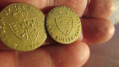 2 George III Gaming Tokens. UK Pay Only One Postage.